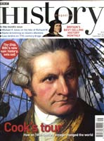 Image of 'BBC History' magazine cover, September 2002 edition to which Stephen Brumwell contributed an article: 'Swapping Sides'.