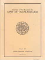 Image of cover of 'Journal of the Society for Army Historical Research'.