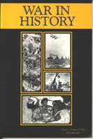 Image of 'War in History' journal cover, April 1998 edition to which Stephen Brumwell contributed an article: 'A service truly critical'.